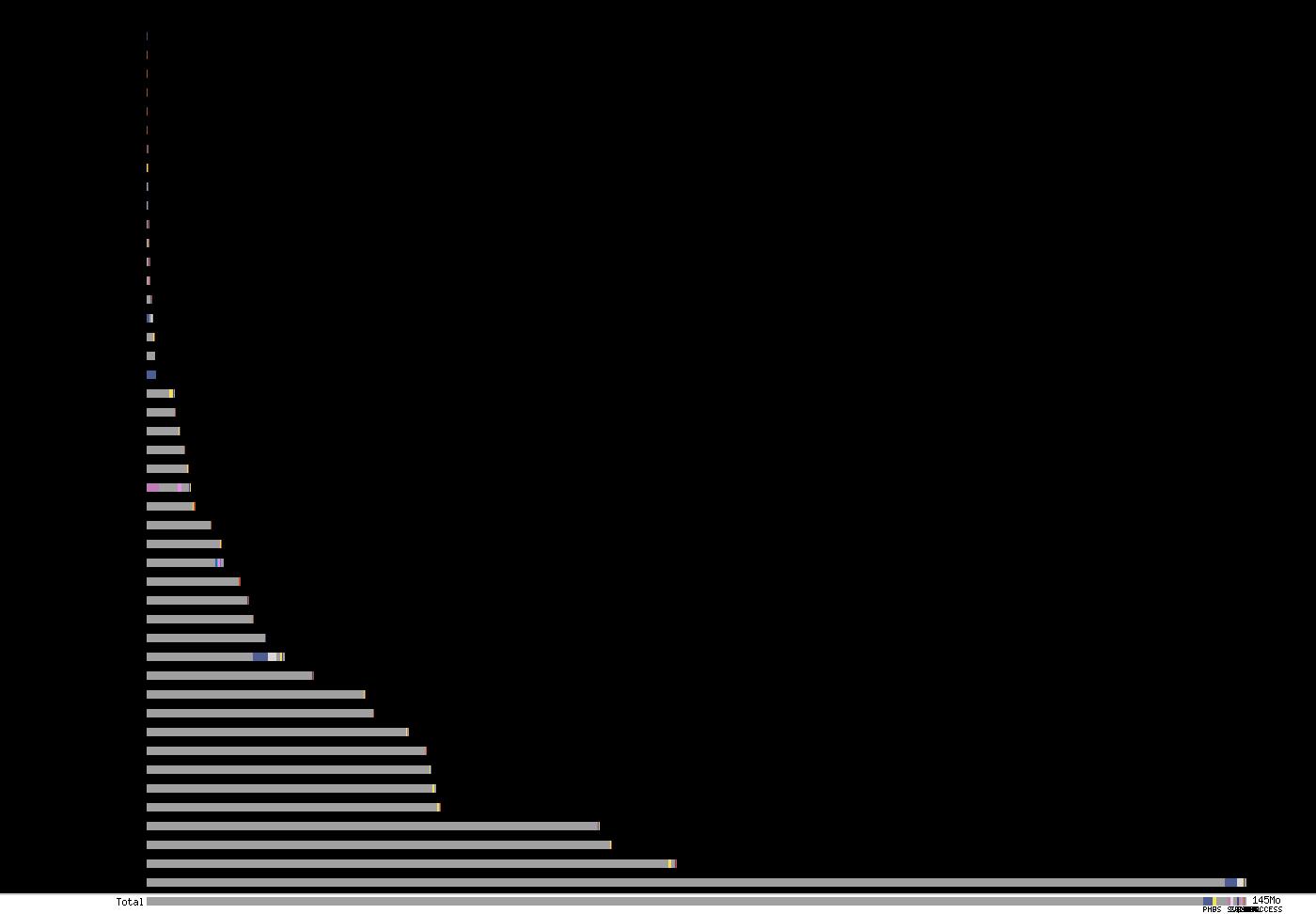 Graph de la taille des projets